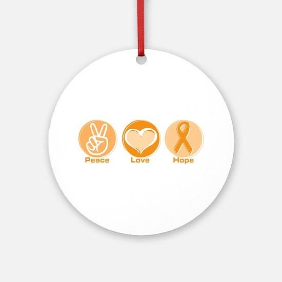 Peace Love Orange Hope Ornament (Round)