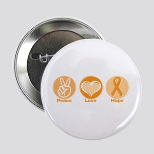 "Peace Love Orange Hope 2.25"" Button"