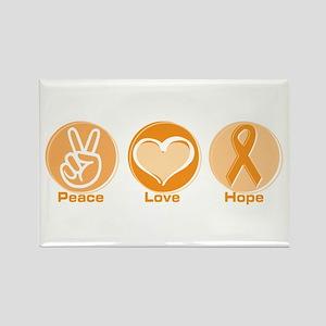 Peace Love Orange Hope Rectangle Magnet