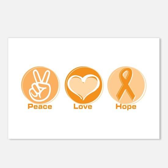 Peace Love Orange Hope Postcards (Package of 8)