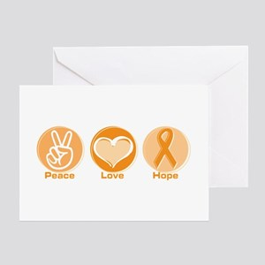 Peace Love Orange Hope Greeting Card