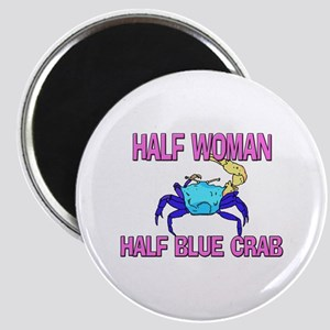 Half Woman Half Blue Crab Magnet