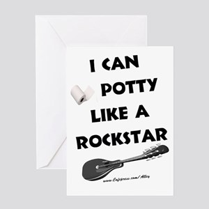 Potty Rockstar Greeting Card