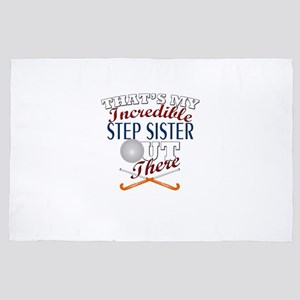 Field Hockey Step Sister or Brother Gi 4' x 6' Rug
