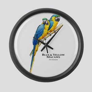 Blue & Yellow Macaws Giant Clock