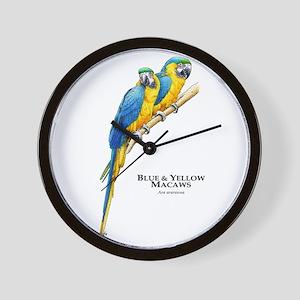 Blue & Yellow Macaws Wall Clock