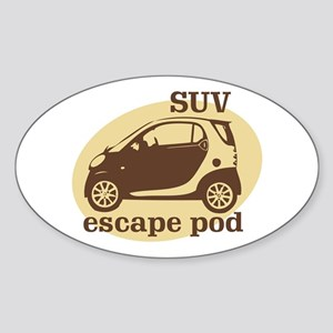 SUV Escape Pod Oval Sticker