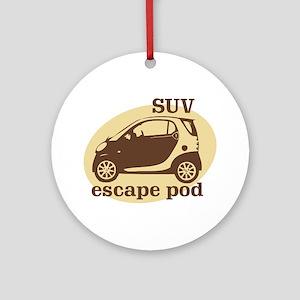SUV Escape Pod Ornament (Round)