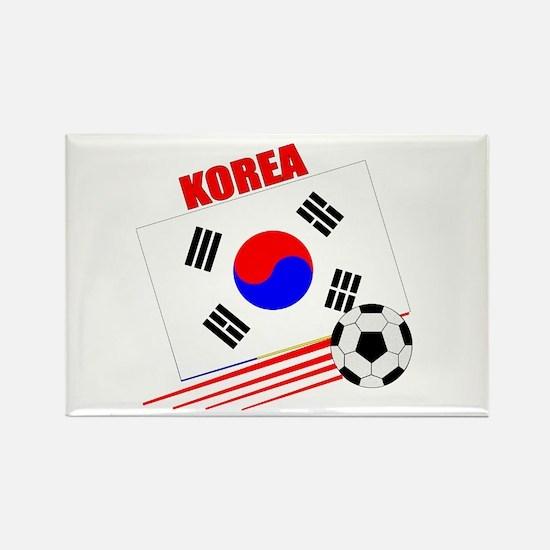 Korea Soccer Team Rectangle Magnet