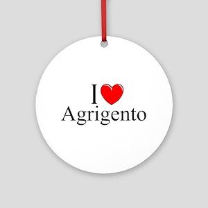 """I Love (Heart) Agrigento"" Ornament (Round)"
