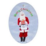 Masonic Santa Merry Christmas Keepsake (Oval)