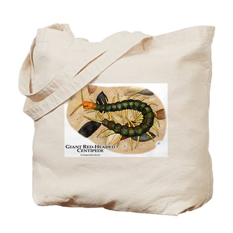 Giant Red-Headed Centipede Tote Bag