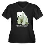 Please Dont Let Me Die Polar Women's Plus Size V-N