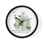 Please Dont Let Me Die Polar Wall Clock