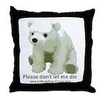 Please Dont Let Me Die Polar Throw Pillow