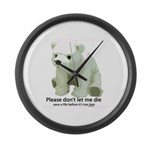 Please Dont Let Me Die Polar Large Wall Clock