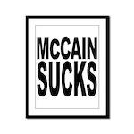 McCain Sucks Framed Panel Print