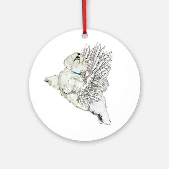 Guardian Angel Westie Ornament (Round)