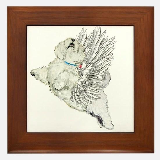 Guardian Angel Westie Framed Tile