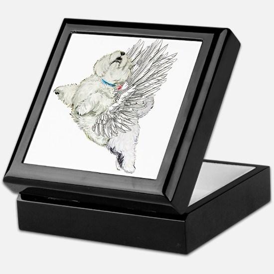Guardian Angel Westie Keepsake Box