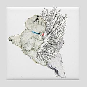 Guardian Angel Westie Tile Coaster
