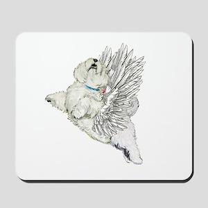 Guardian Angel Westie Mousepad