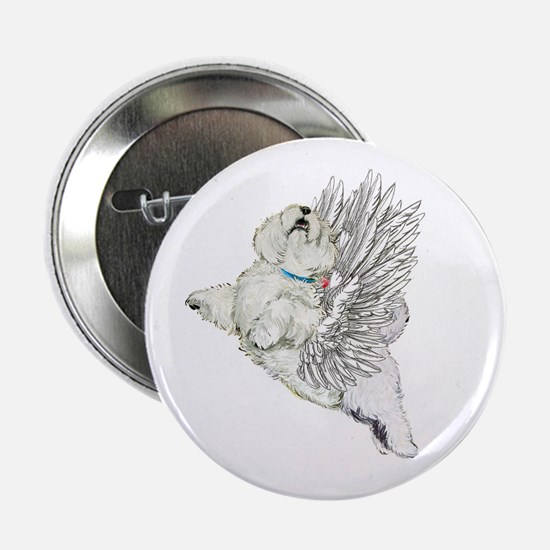 "Guardian Angel Westie 2.25"" Button"