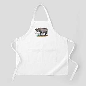 Black Rhinoceros BBQ Apron