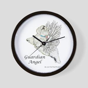 Guardian Angel Westie Wall Clock