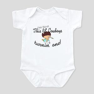 Infant Bodysuit- This lil cowboys turnin 1
