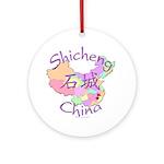 Shicheng China Map Ornament (Round)