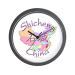 Shicheng China Map Wall Clock
