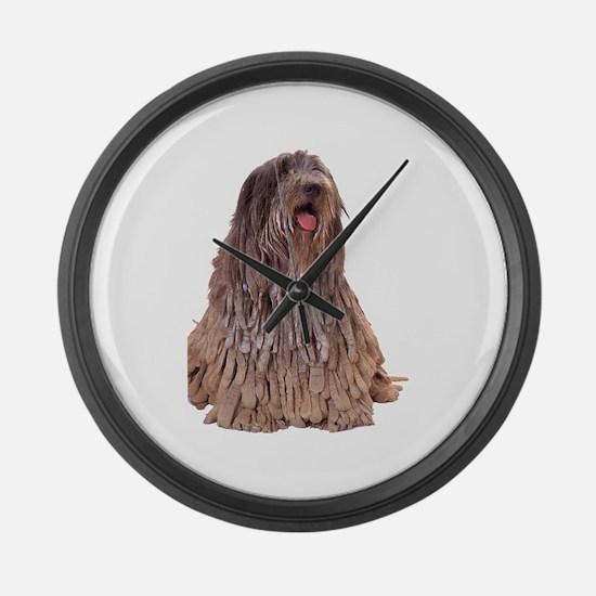 Bergamasco Sheepdog Sitting Giant Clock