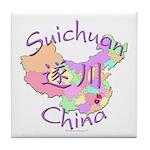 Suichuan China Map Tile Coaster