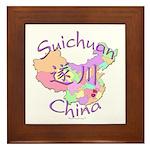 Suichuan China Map Framed Tile