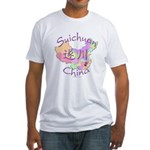 Suichuan China Map Fitted T-Shirt