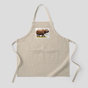 Indian Rhinoceros BBQ Apron