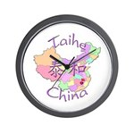 Taihe China Map Wall Clock