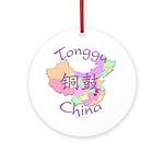 Tonggu China Map Ornament (Round)