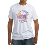 Tonggu China Map Fitted T-Shirt