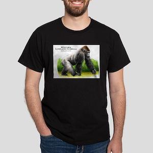 Western Lowland Gorilla Dark T-Shirt