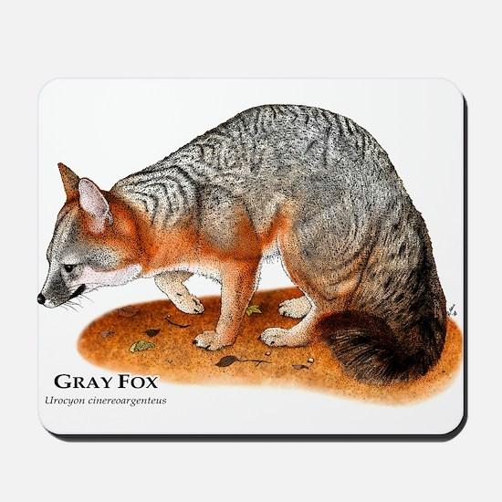 Gray Fox Mousepad