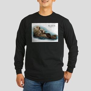 Sea Otter Long Sleeve Dark T-Shirt