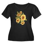 sunflower Women's Plus Size Scoop Neck Dark T-Shir