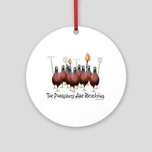 Pheasants1 Ornament (Round)