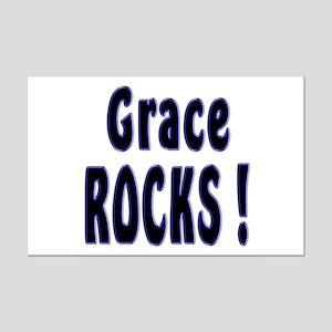 Grace Rocks ! Mini Poster Print