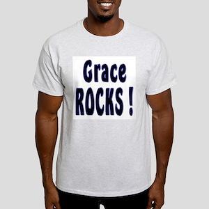 Grace Rocks ! Ash Grey T-Shirt