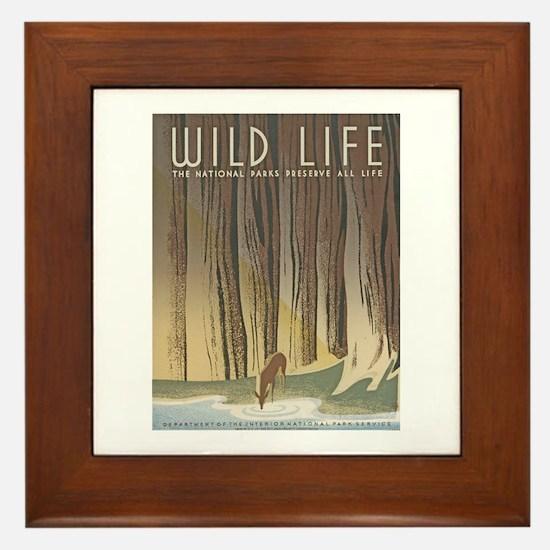 Wild Life Framed Tile