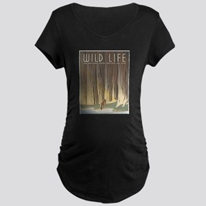 Wild Life Maternity Dark T-Shirt