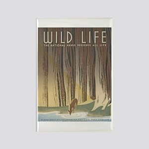Wild Life Rectangle Magnet